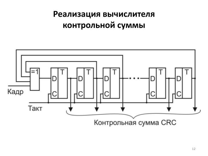 Реализация вычислителя