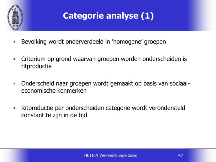 Categorie analyse (1)