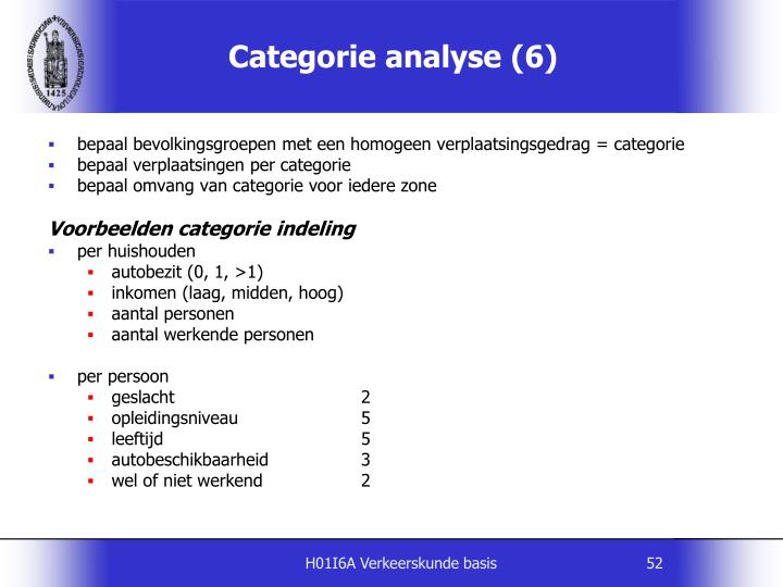 Categorie analyse (6)