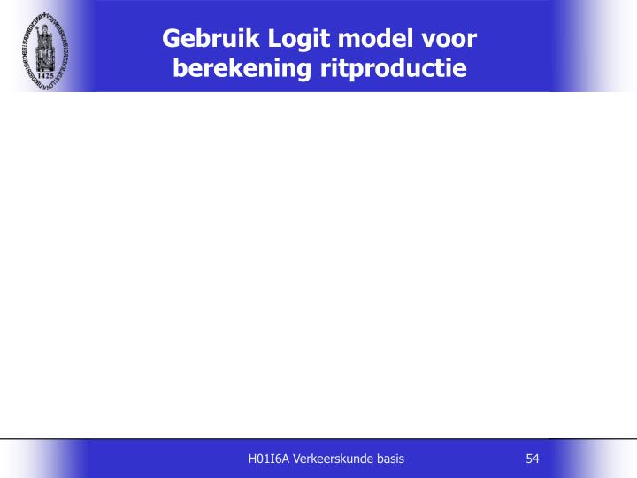 Gebruik Logit model voor