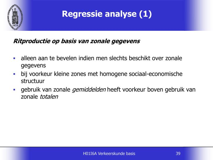 Regressie analyse (1)