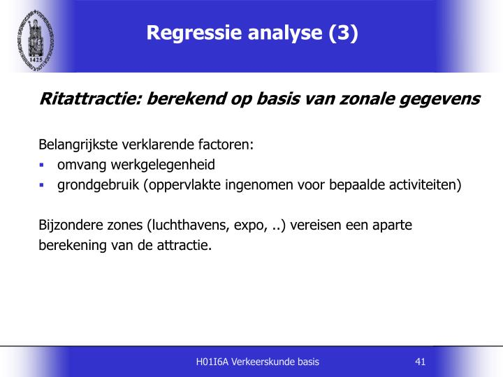 Regressie analyse (3)