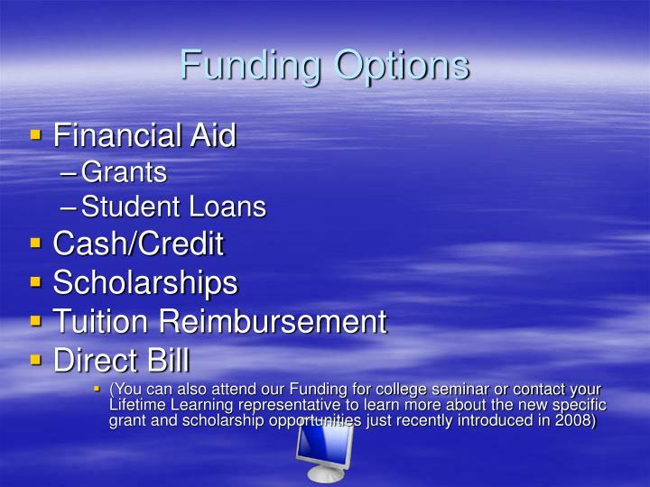 Funding Options