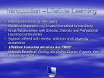 introduction lifetime learning