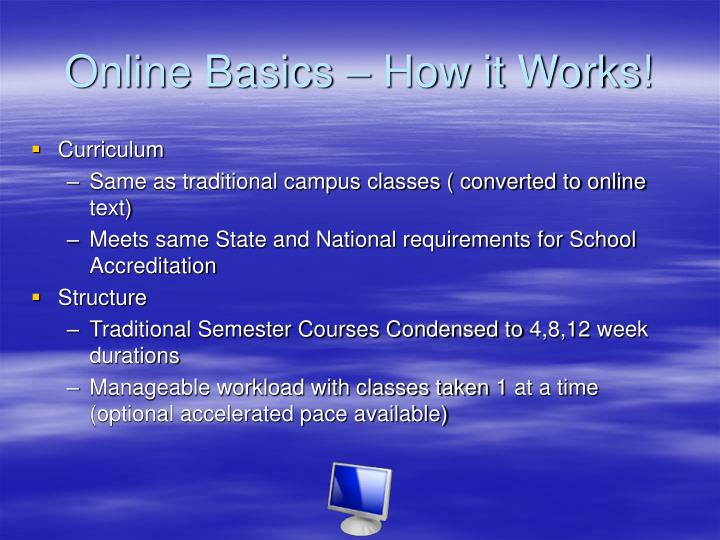Online Basics – How it Works!