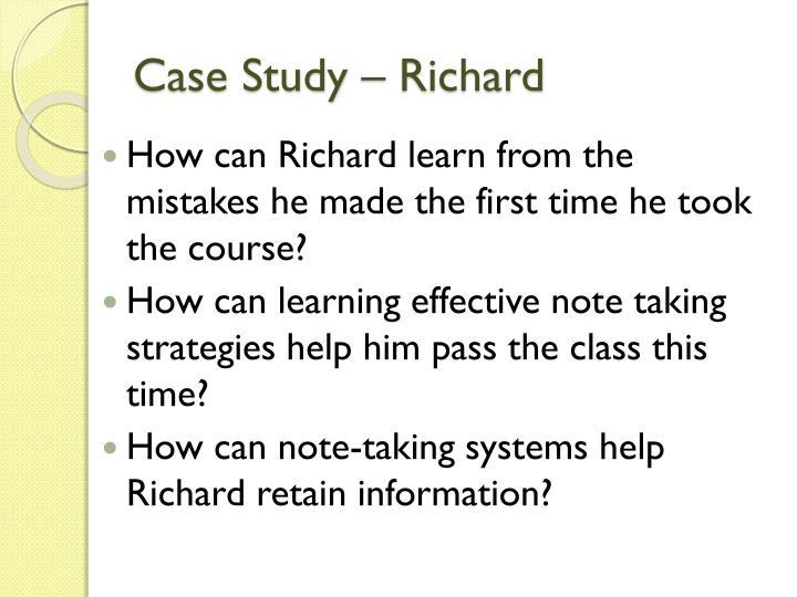 Case Study – Richard