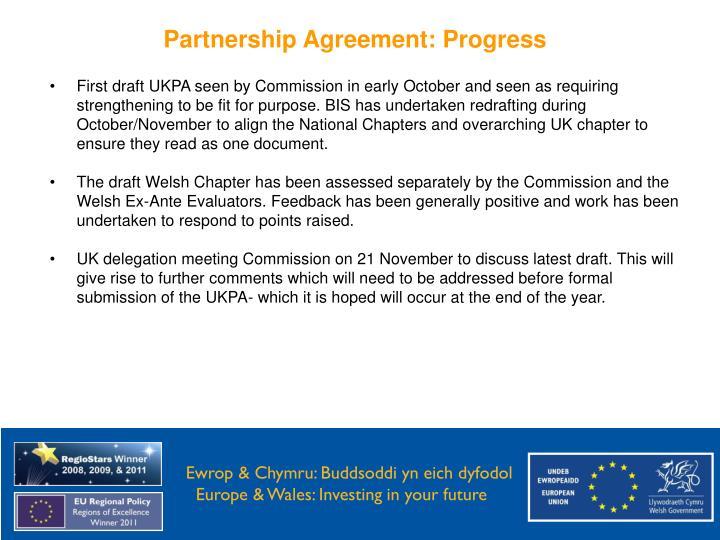 Partnership Agreement: Progress