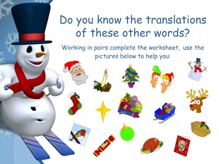Do you know the translations of