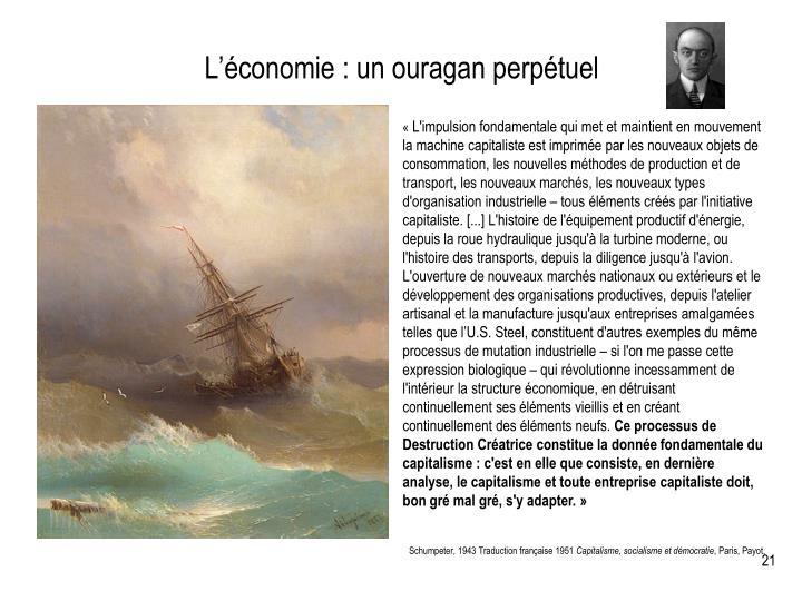 L'économie : un ouragan perpétuel