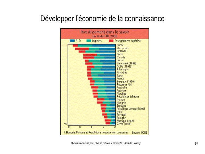 Développer l'économie de la connaissance