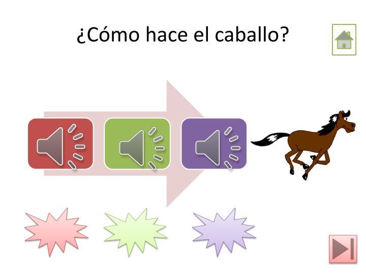 ¿Cómo hace el caballo?