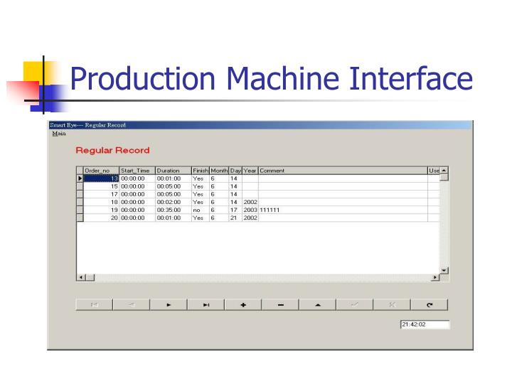Production Machine Interface