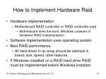 how to implement hardware raid