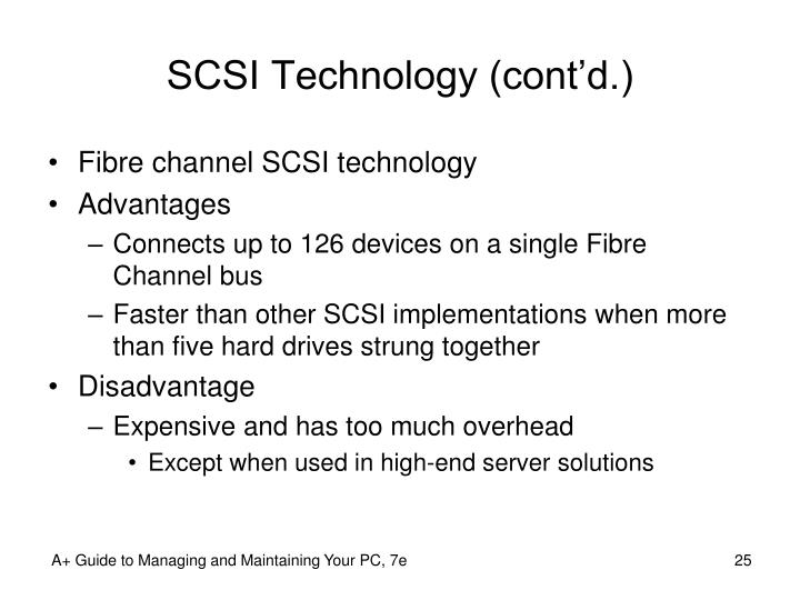 SCSI Technology (cont'd.)