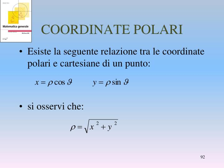 COORDINATE POLARI