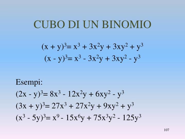 CUBO DI UN BINOMIO