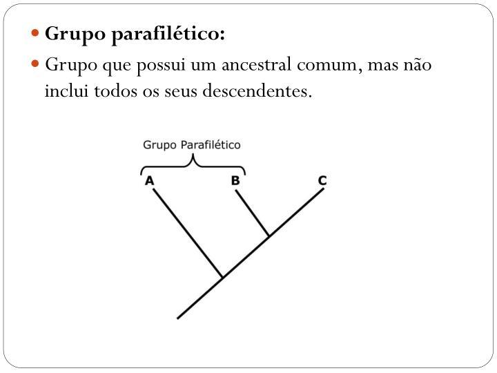 Grupo parafilético: