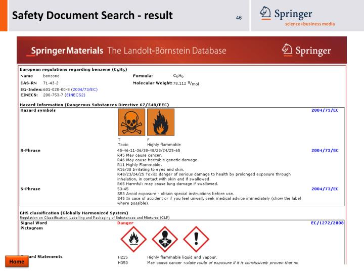 Safety Document Search - result