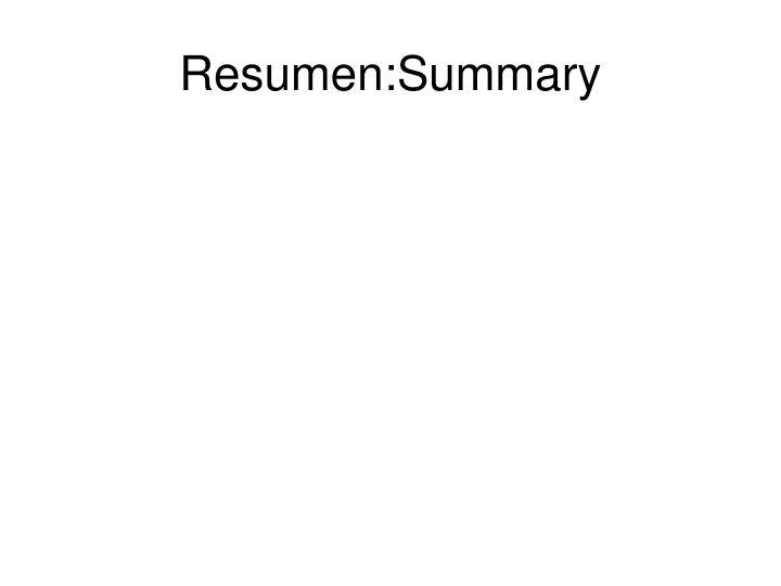Resumen:Summary