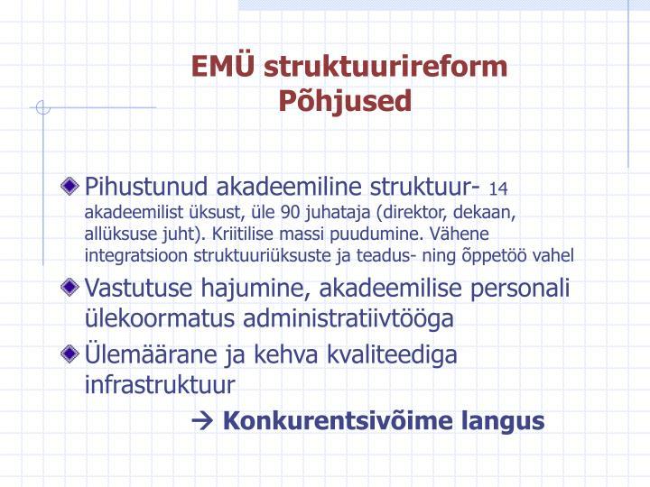 EMÜ struktuurireform