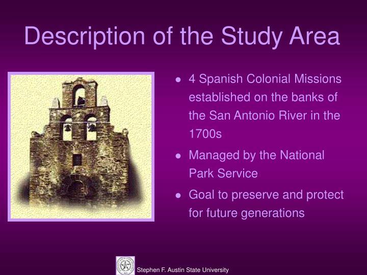 Description of the Study Area