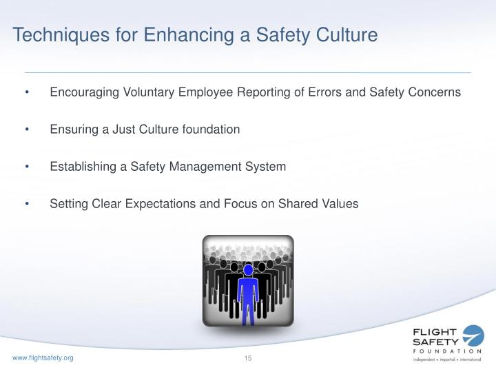 Techniques for Enhancing a Safety Culture
