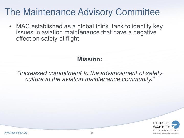 The Maintenance Advisory Committee