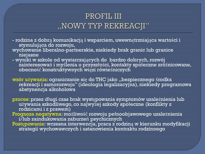 PROFIL III
