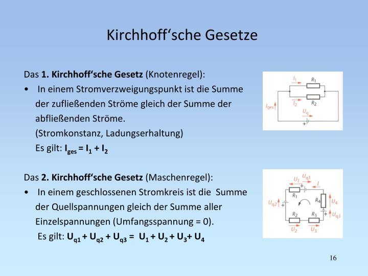 Kirchhoff'sche Gesetze