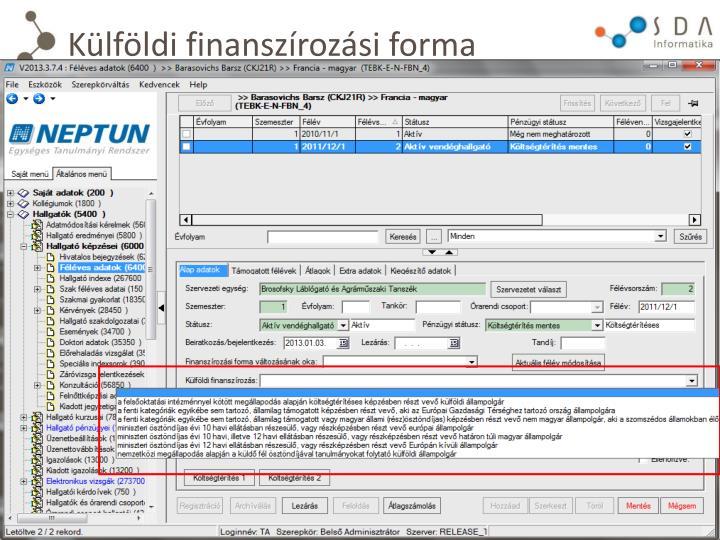 Külföldi finanszírozási forma