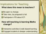 implications for teaching