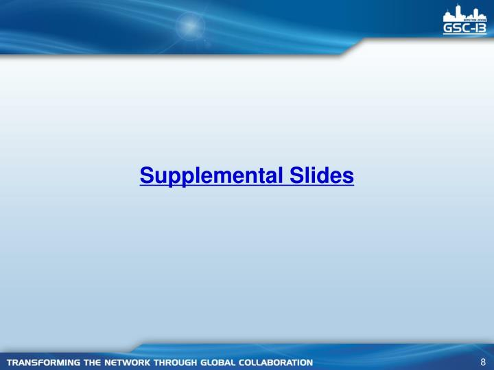 Supplemental Slides