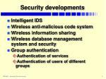 security developments