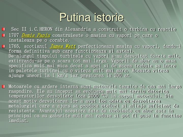 Putina istorie
