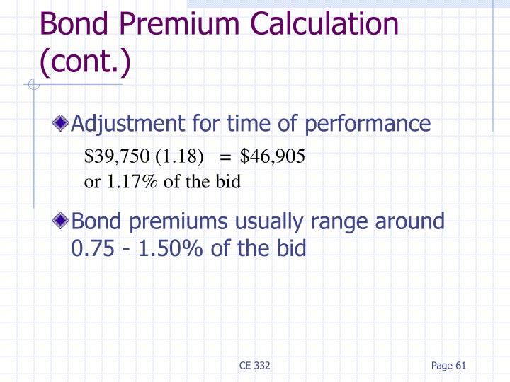 Adjustment for time of performance