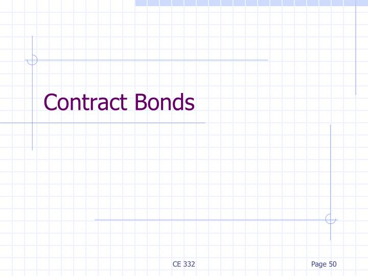 Contract Bonds