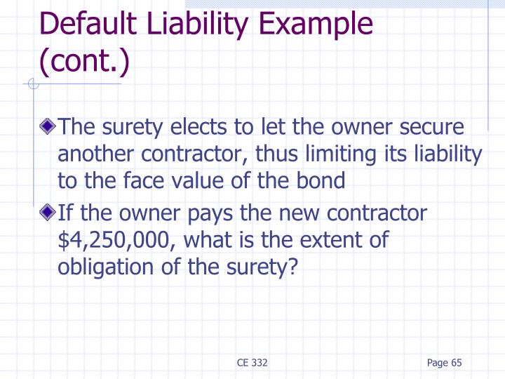 The surety elects to let the owner secure another contractor, thus limiting its liability to the face value of the bond