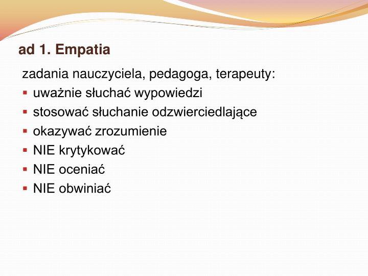 ad 1. Empatia