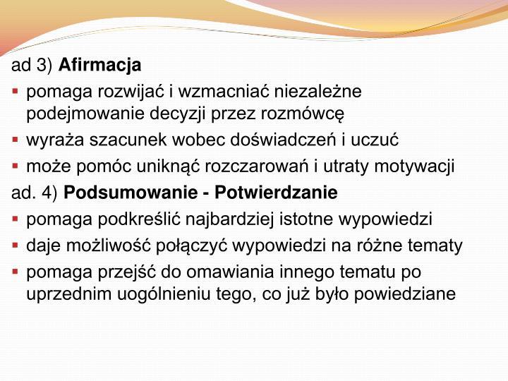 ad 3)
