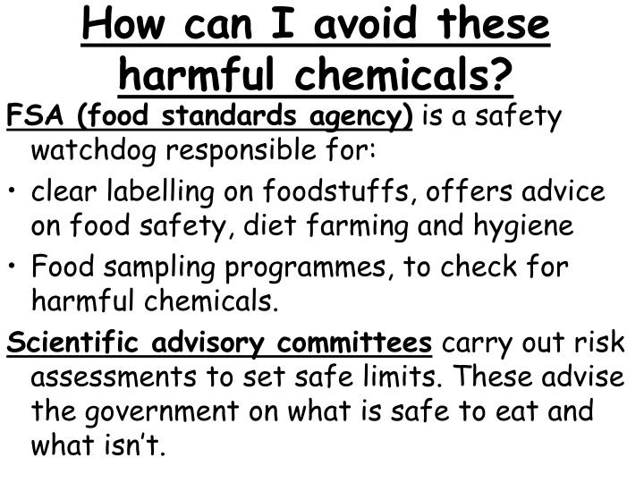 How can I avoid these harmful chemicals?