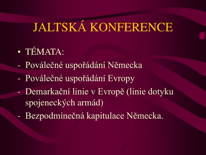 JALTSKÁ KONFERENCE