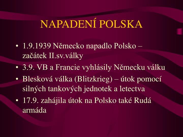 NAPADENÍ POLSKA