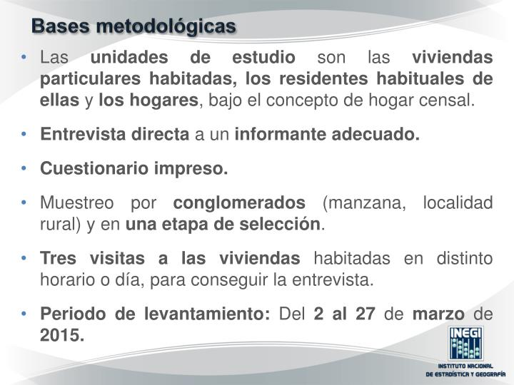 Bases metodológicas
