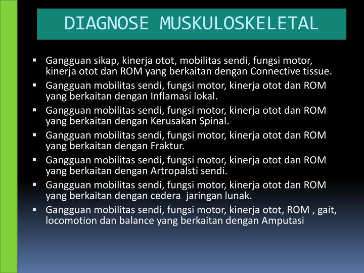 DIAGNOSE MUSKULOSKELETAL