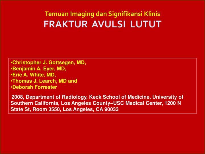 Temuan Imaging dan Signifikansi Klinis