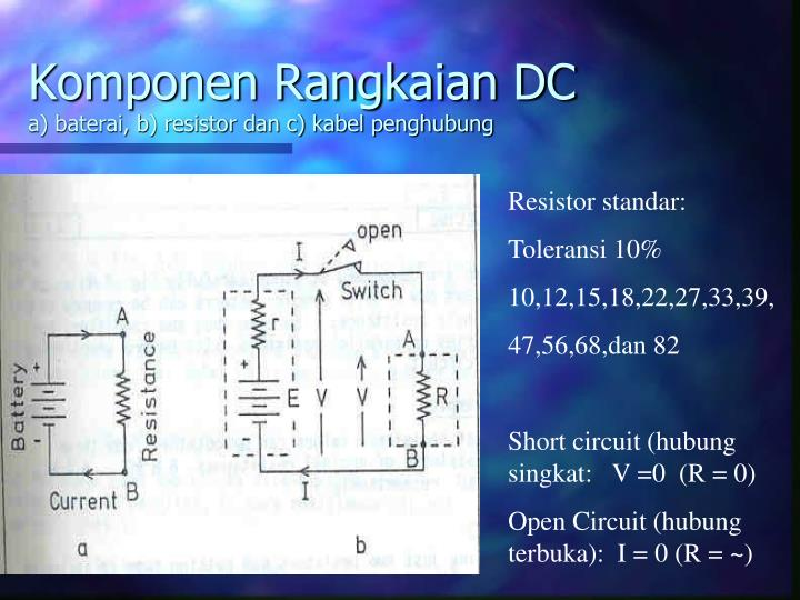 Komponen Rangkaian DC