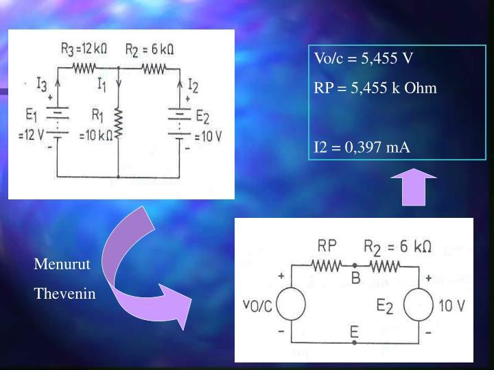 Vo/c = 5,455 V