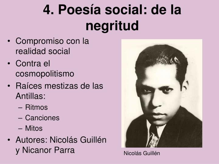 4. Poesía social: de la negritud