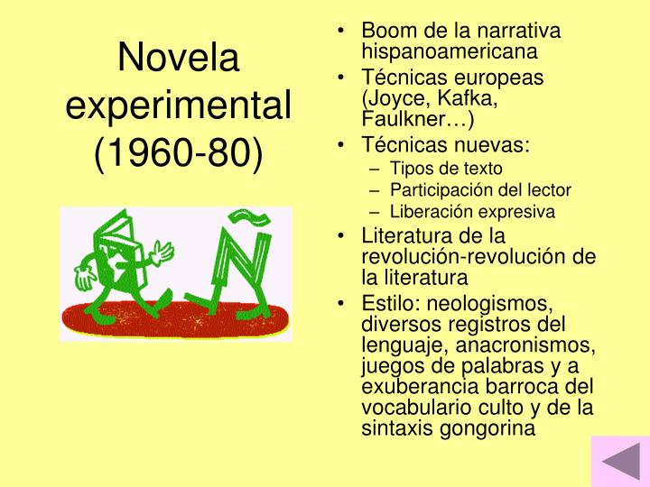 Novela experimental (1960-80)