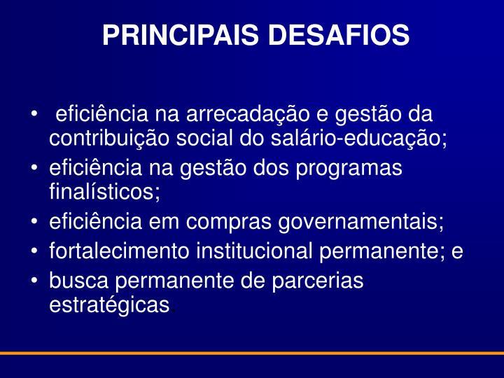 PRINCIPAIS DESAFIOS